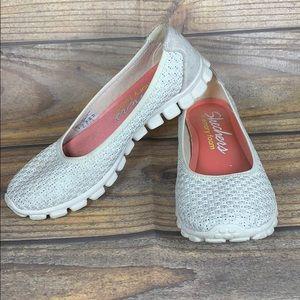 SKETCHERS memory foam sparkle slip on shoes
